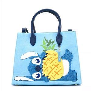 Loungefly Stitch chenille detail handbag